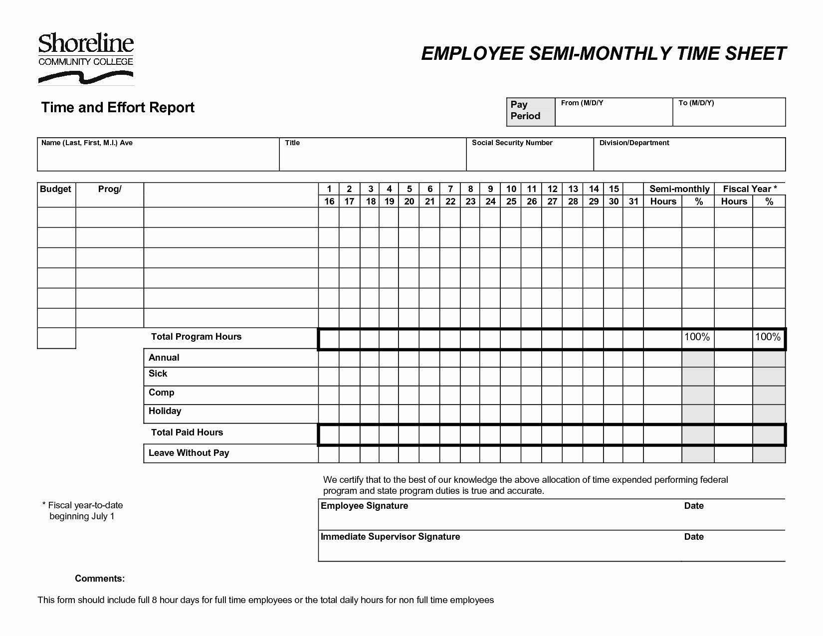 Semi Monthly Timesheet Template Excel Lovely 10 Best Of Semi Monthly Payroll Timesheet Template