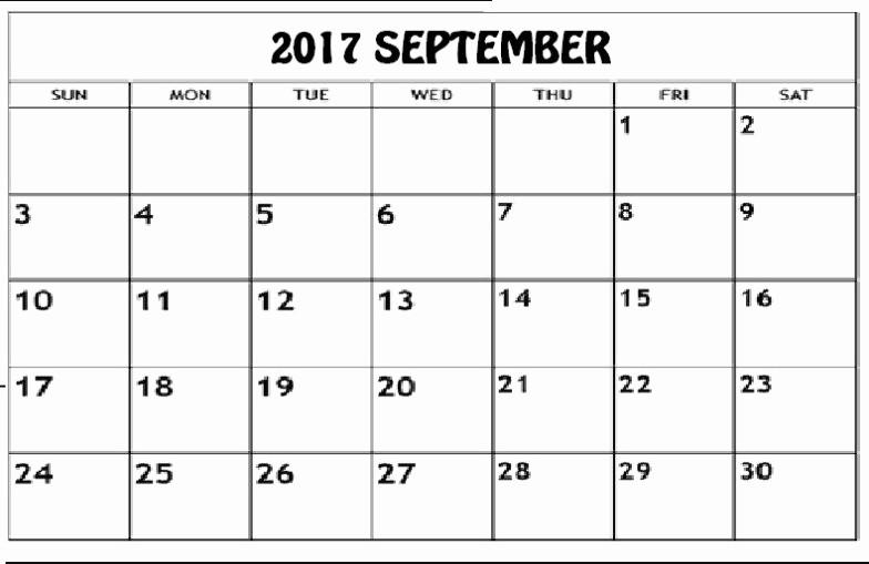 September 2017 Printable Calendar Word Awesome Free September 2017 Printable Calendar Editable Pdf Word