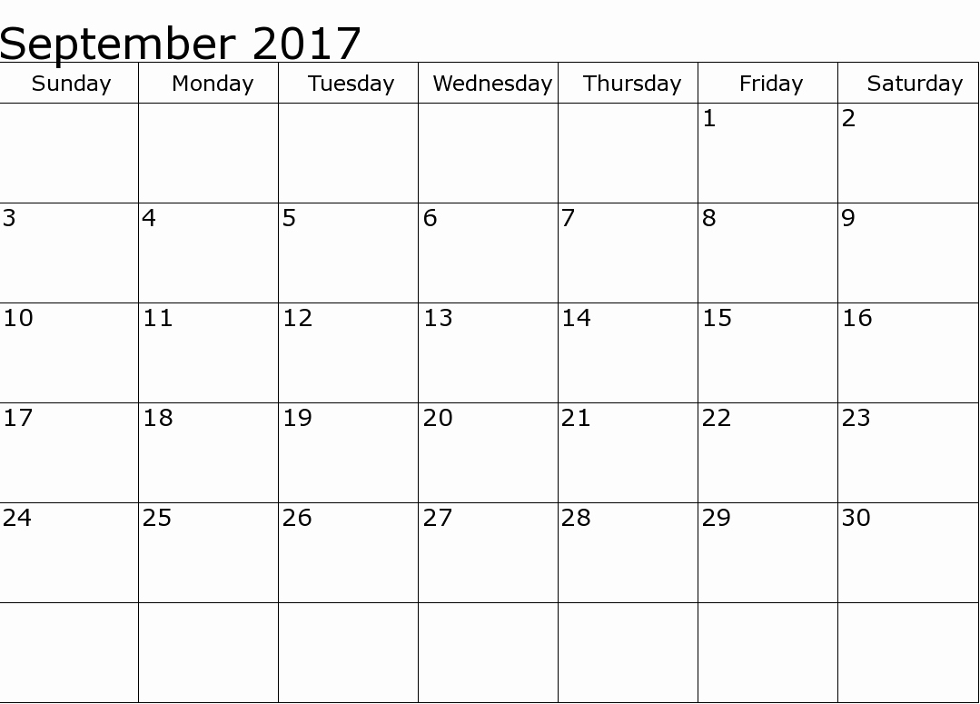 September 2017 Printable Calendar Word Awesome September 2017 Printable Calendar Template Holidays