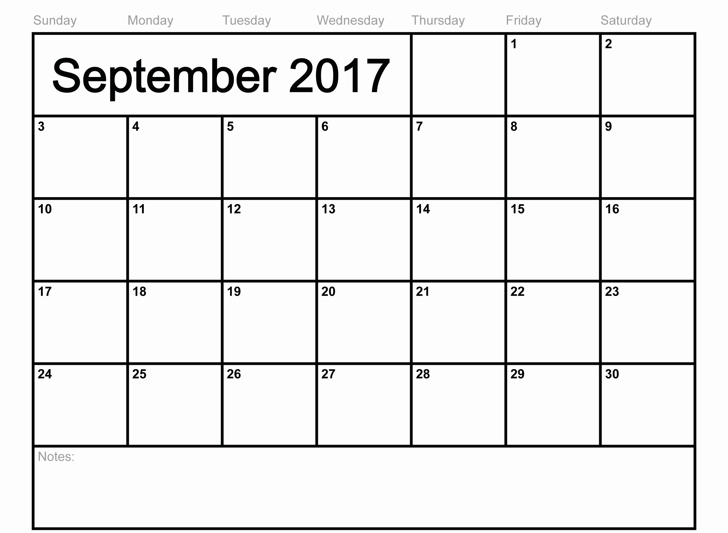 September 2017 Printable Calendar Word Beautiful Calendar September 2017 Print Out Calendar and