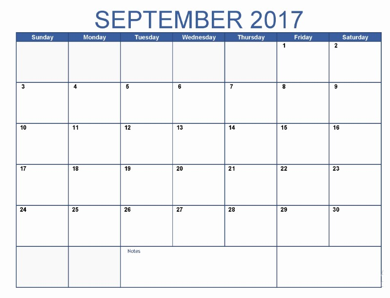 September 2017 Printable Calendar Word Beautiful September 2017 Printable Blank Calendar
