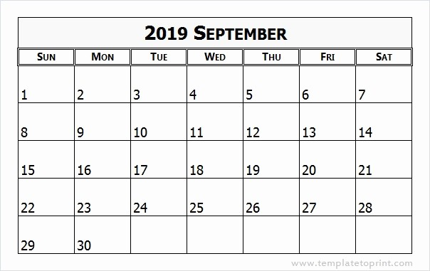 September 2017 Printable Calendar Word Inspirational September 2019 Calendar Word