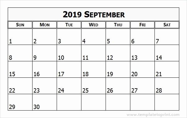 September 2017 Printable Calendar Word Inspirational September 2019 Calendar Word