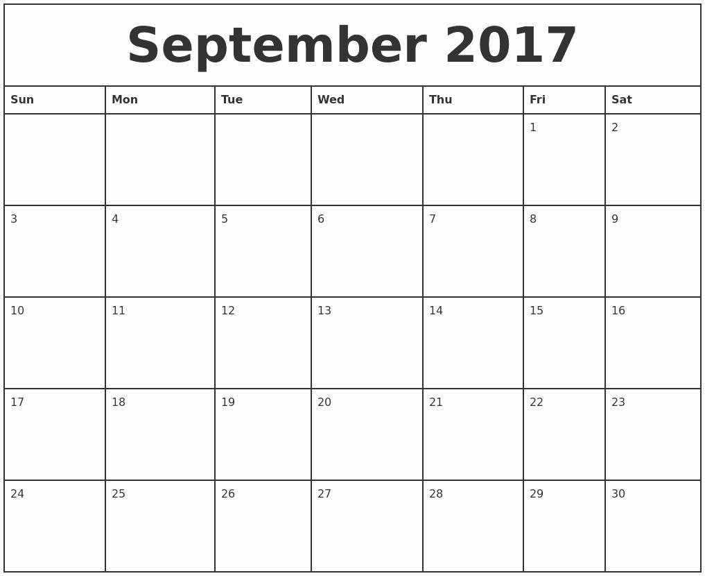 September 2017 Printable Calendar Word Lovely September 2017 Printable Calendar Template Holidays