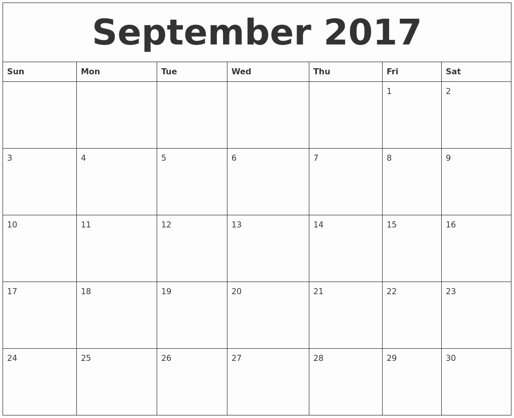 September 2017 Printable Calendar Word New Blank September 2018 Calendar to Print