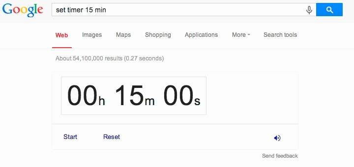 Set A 15 Min Timer Awesome 4 Ways to Use Google S Online Timer