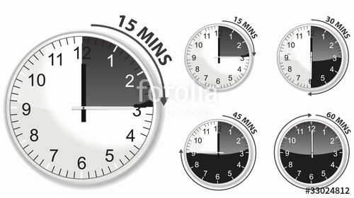 "Set A 15 Min Timer Best Of ""set Of Black Timer 15 30 45 and 60 Minutes"" Stock Image"