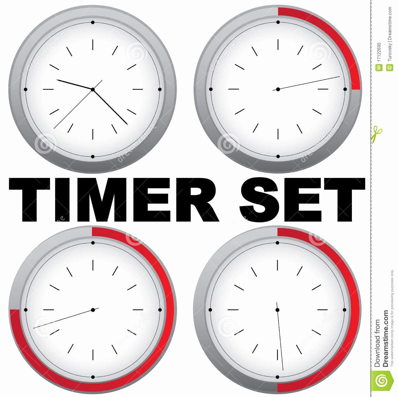 Set A 15 Min Timer Unique Timer Set Royalty Free Stock Image
