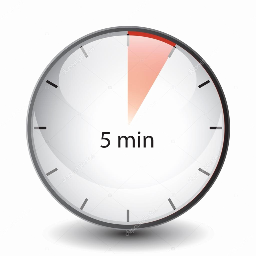 Set Stopwatch for 5 Minutes New 5 Min Timer — Stock Vector © Dosunets