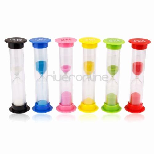 Set Timer for 5 Mins Awesome 30 Sec 1 2 3 5 10 Minutes Set Of 6 Colorful Sandglass