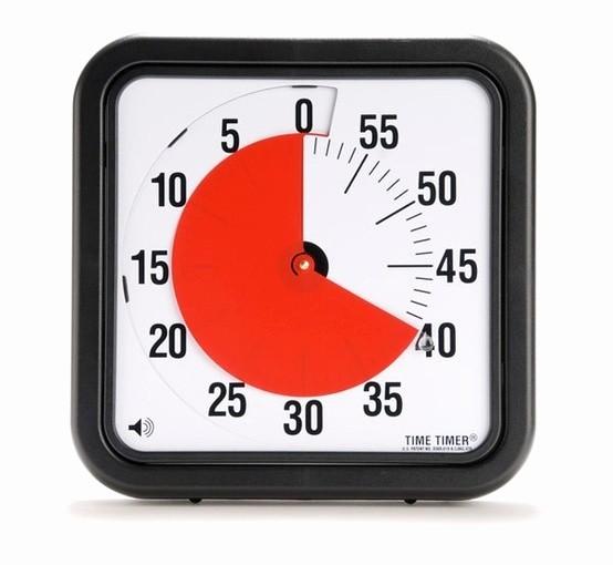 "Set Timer for 5 Mins Awesome Time Timer 12"""