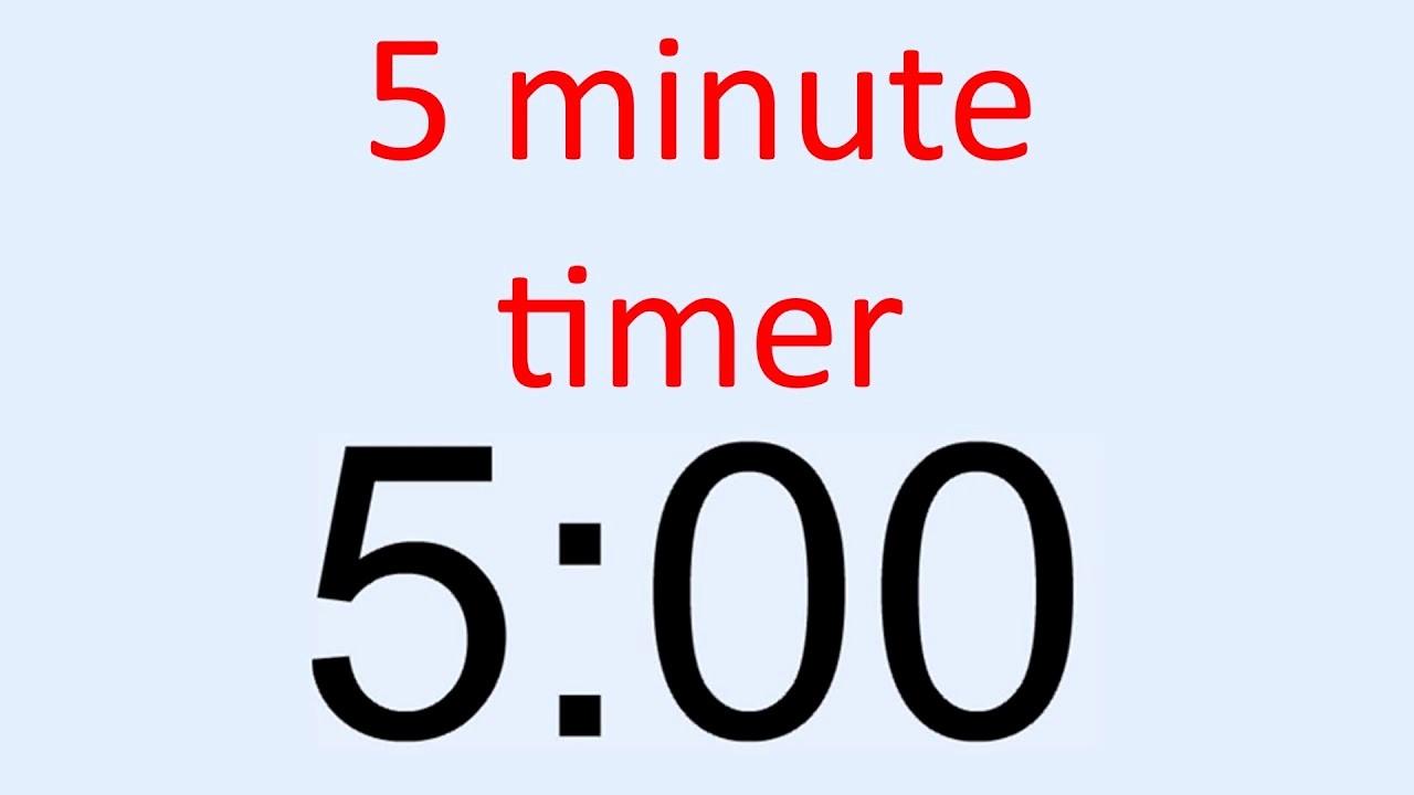 Set Timer for 5 Mins Best Of 5 Minute Timer
