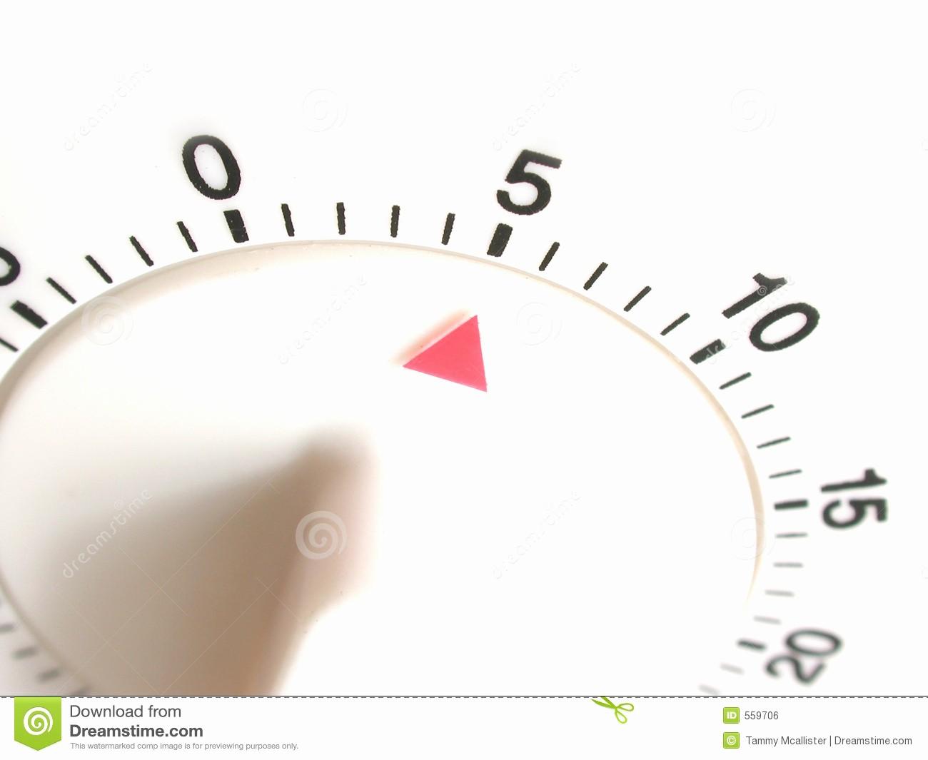 Set Timer for 5 Mins Elegant Timer Set with Five Minutes Royalty Free Stock Image