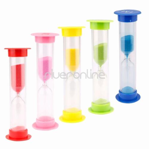 Set Timer for 5 Mins Fresh 30 Sec 1 2 3 5 10 Minutes Set Of 6 Colorful Sandglass