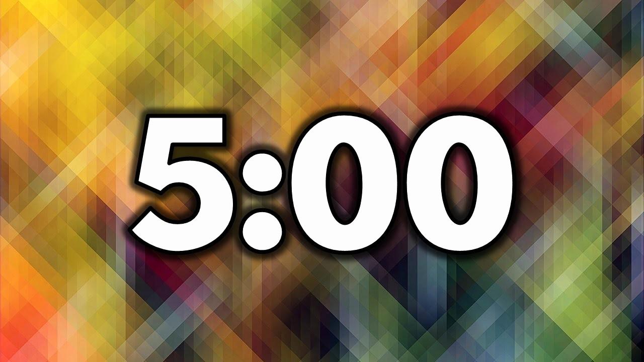 Set Timer for 5 Mins Fresh 5 Minute Timer