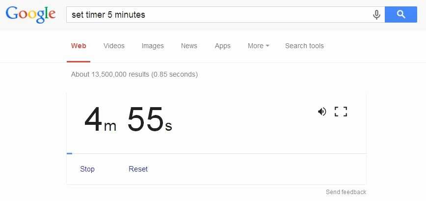 Set Timer for 5 Mins Fresh How to Get More Out Of Google 18 Useful Google Search