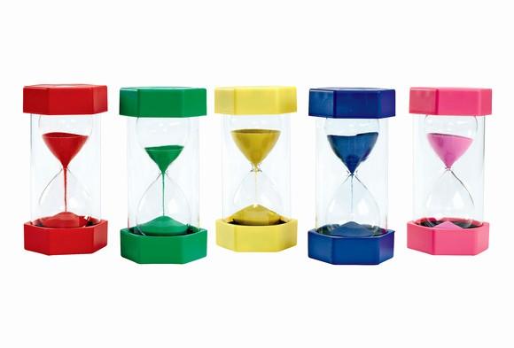 Set Timer for 5 Mins Lovely Sand Timers Set Of 5