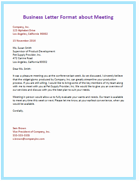 Set Up A Business Letter Best Of 60 Business Letter Samples & Templates to format A