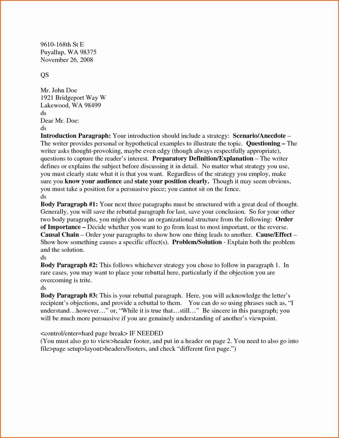 Set Up A Business Letter Elegant Letter Heading format