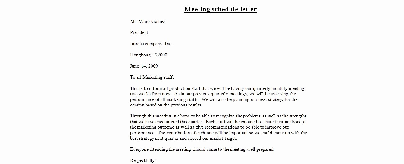 Set Up A Business Letter Lovely Best S Of Set A Meeting Letter How to Set Up Letter