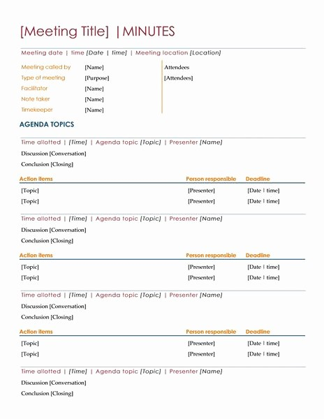 Setting Up A Meeting Agenda Beautiful Meeting Minutes Templates General Info