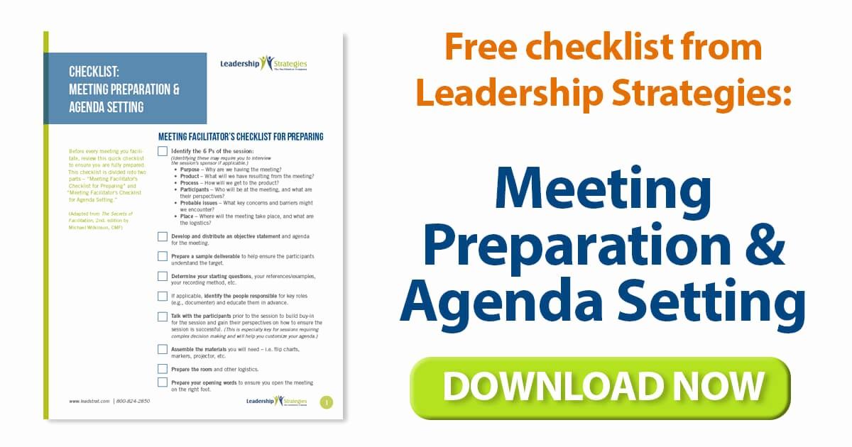 Setting Up A Meeting Agenda Elegant Leadership Strategies Blog Archive Template for Meeting