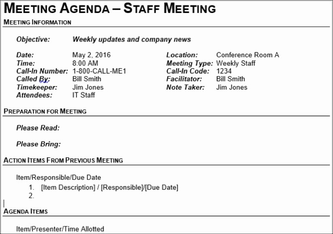 Setting Up A Meeting Agenda Fresh 15 Free Meeting Agenda Templates for Microsoft Word