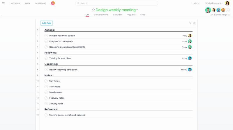 Setting Up A Meeting Agenda Inspirational O Usar A asana Em Reuniões