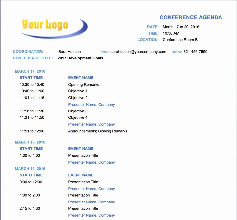 Setting Up A Meeting Agenda Lovely Free Meeting Agenda Templates Smartsheet
