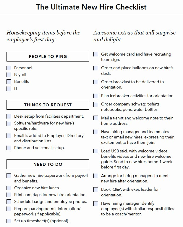 Setting Up An Office Checklist Best Of A Checklist for Everything You Need to Do when You Hire A