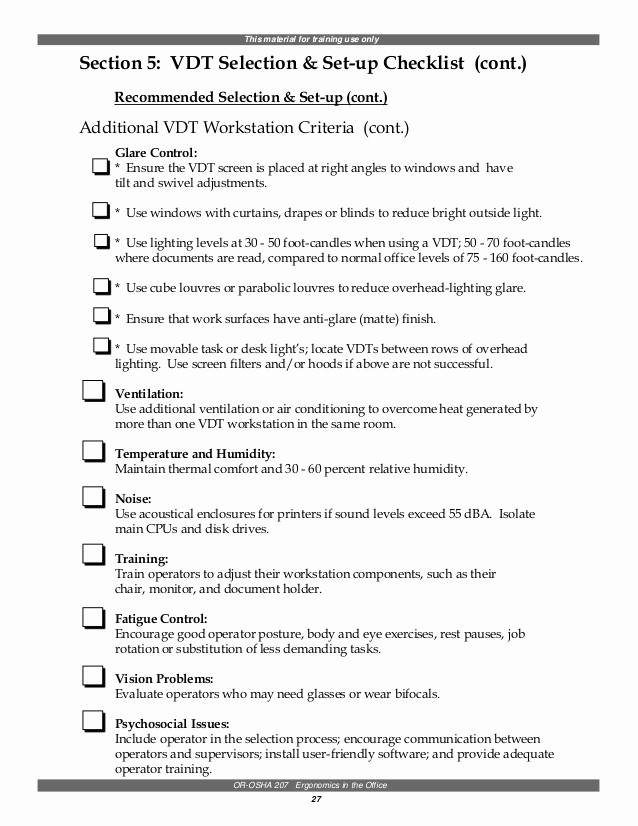 Setting Up An Office Checklist Elegant Ergonomics In the Office