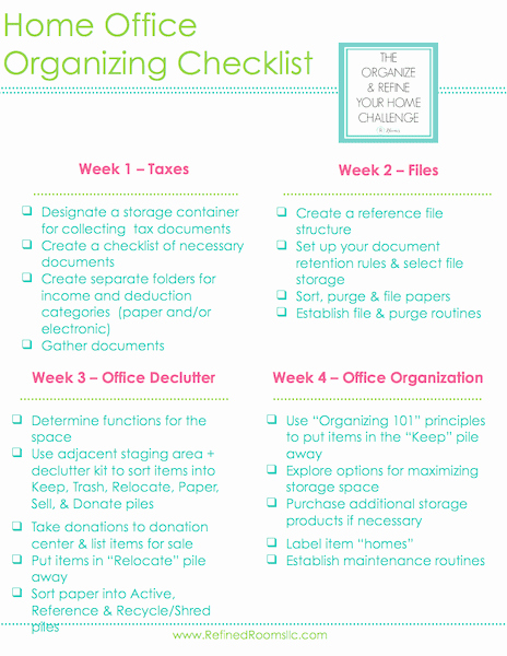 Setting Up An Office Checklist Lovely Home Fice organizing Tax Documents