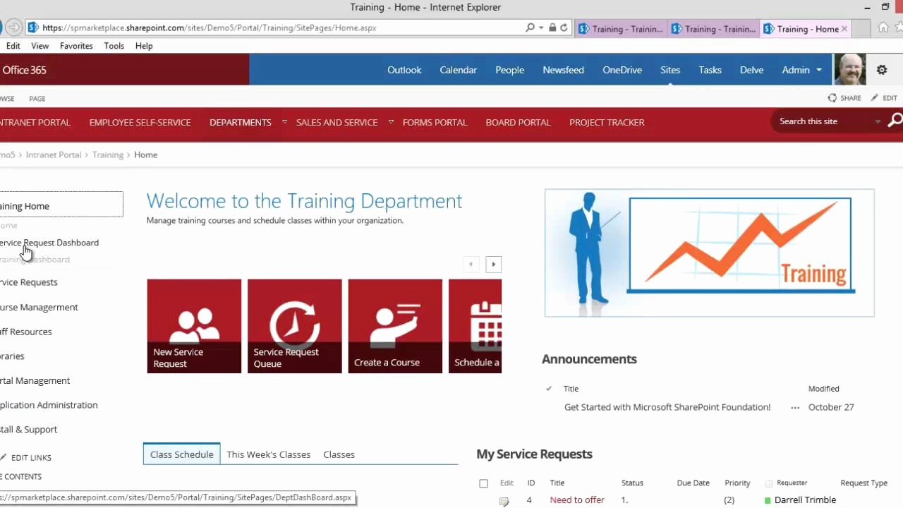 Sharepoint Work order Tracking System Elegant Fice 365 Point Training Portal Application