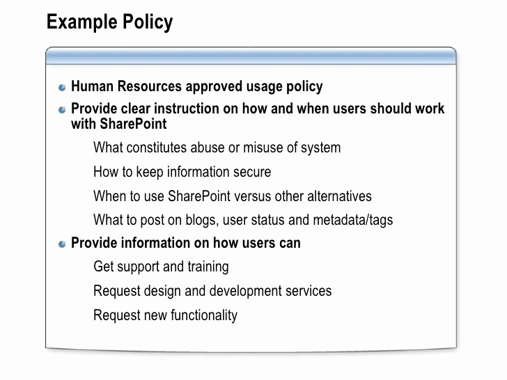 Sharepoint Work order Tracking System Inspirational Point Governance