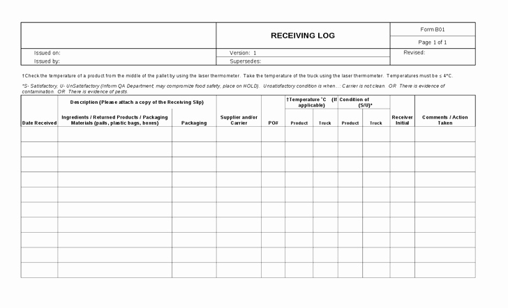 Shipping and Receiving Excel Spreadsheet Beautiful 26 Of Shipping Log Template Excel