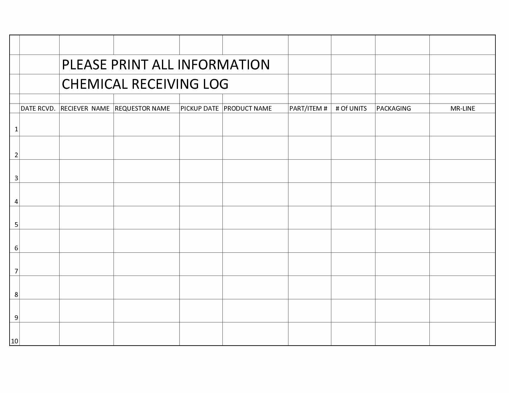 Shipping and Receiving Excel Spreadsheet Beautiful Best S Of Receiving form Template Shipping and