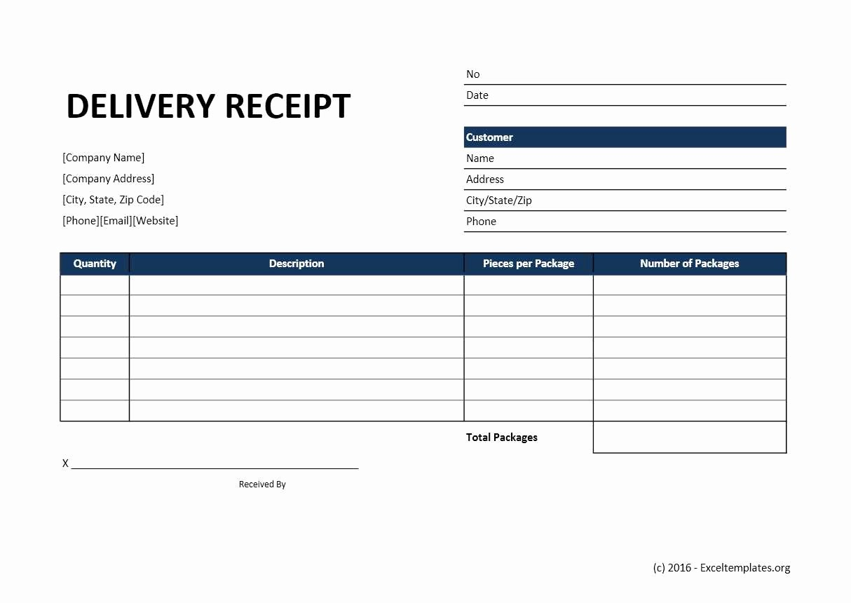 Shipping and Receiving Excel Spreadsheet Fresh Delivery Receipt Template Excel Templates