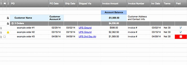 Shipping and Receiving Excel Spreadsheet Inspirational Customer order Tracking & History Template