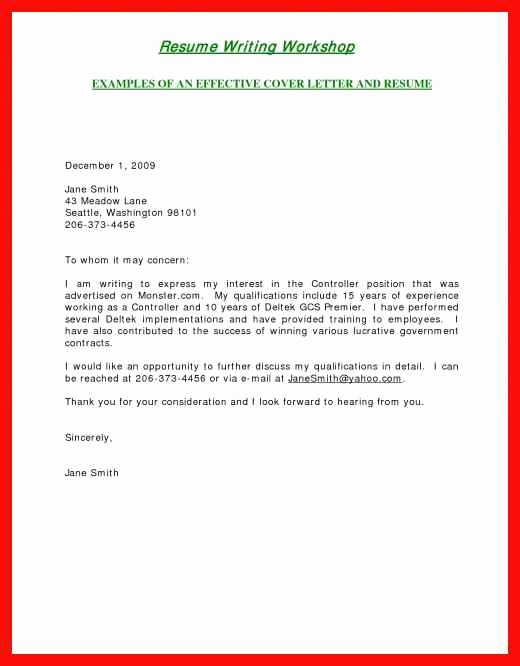 Short and Simple Cover Letters Best Of Short Simple Cover Letter