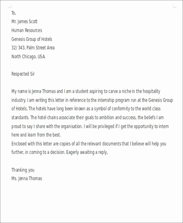 Short and Simple Cover Letters Fresh Short Cover Letters 9 Free Word Pdf format Download