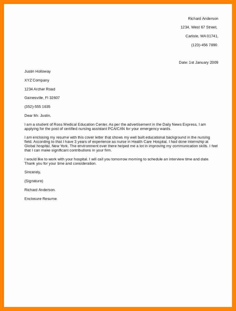 Short and Simple Cover Letters New 8 Short Cover Letters Samples