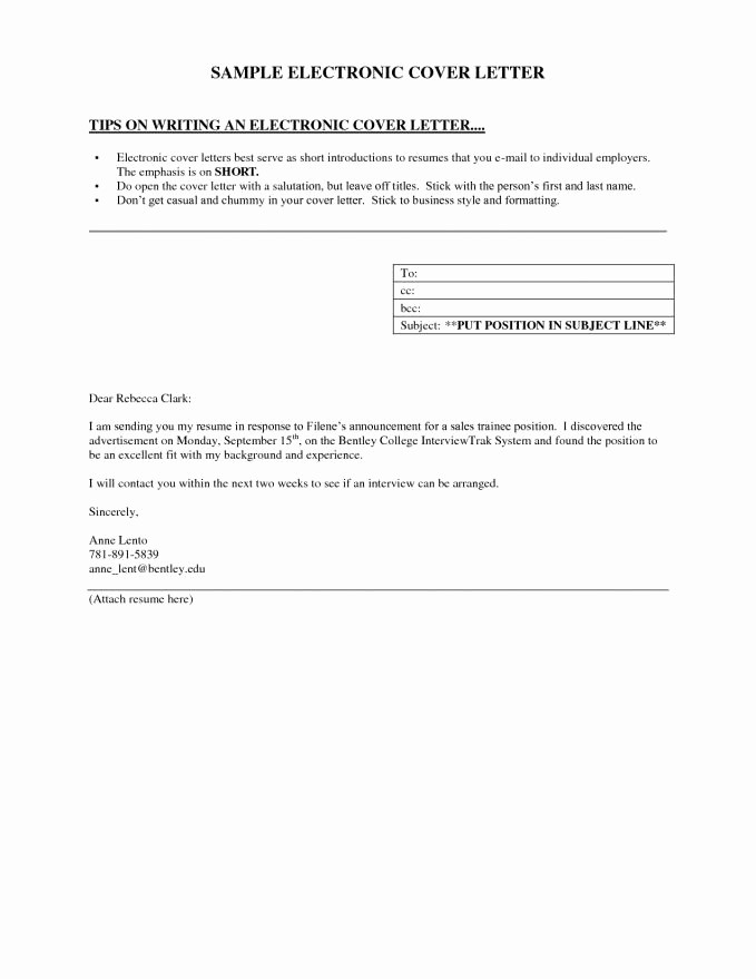 Short and Simple Cover Letters New Short Cover Letter Example