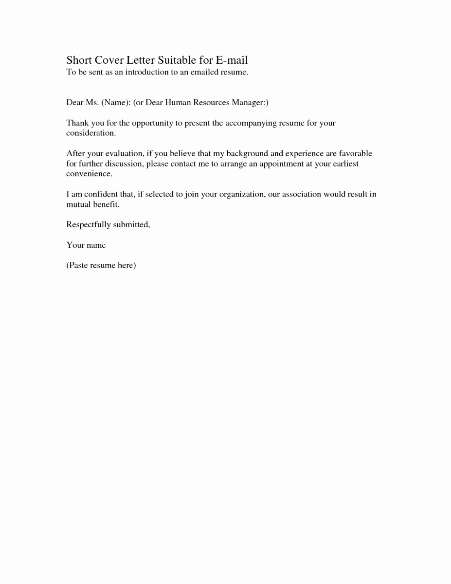 Short and Simple Cover Letters New Stylish and Interesting Short and Sweet Cover Letter