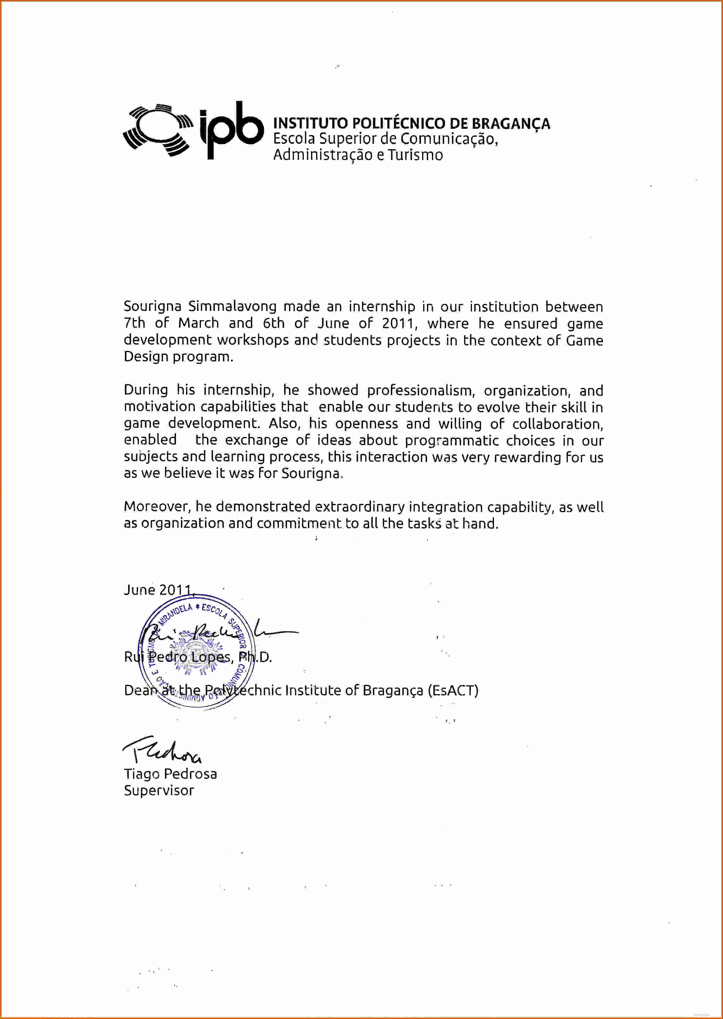 Short Recommendation Letter for Employee Beautiful Short Sample Re Mendation Letter Employer Letter Of