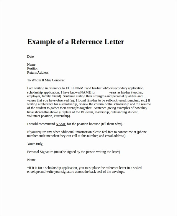 Short Recommendation Letter for Employee Lovely Employment Reference Letter 8 Free Word Excel Pdf