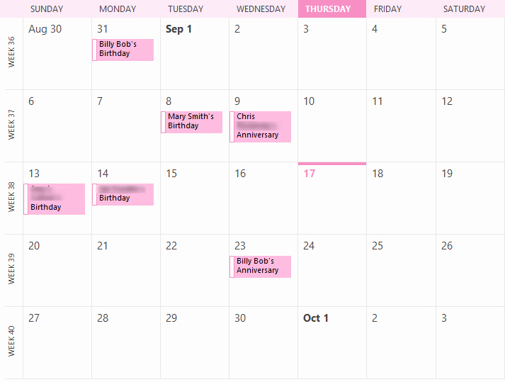 Show Me A Monthly Calendar Awesome Show Only Birthdays for A Particular Month