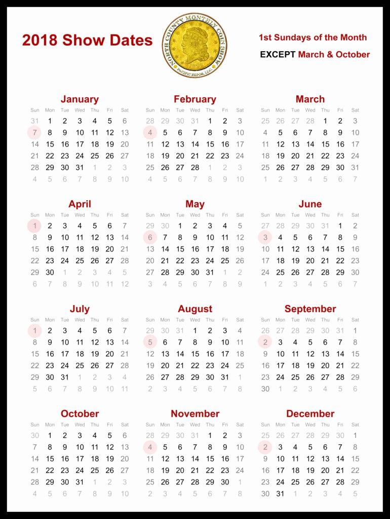 Show Me A Monthly Calendar Beautiful 2018 Show Dates Calendar