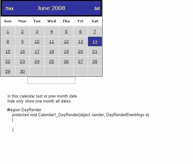 Show Me A Monthly Calendar Best Of ask Dot Net Calendar Show Only Current Month Date In C