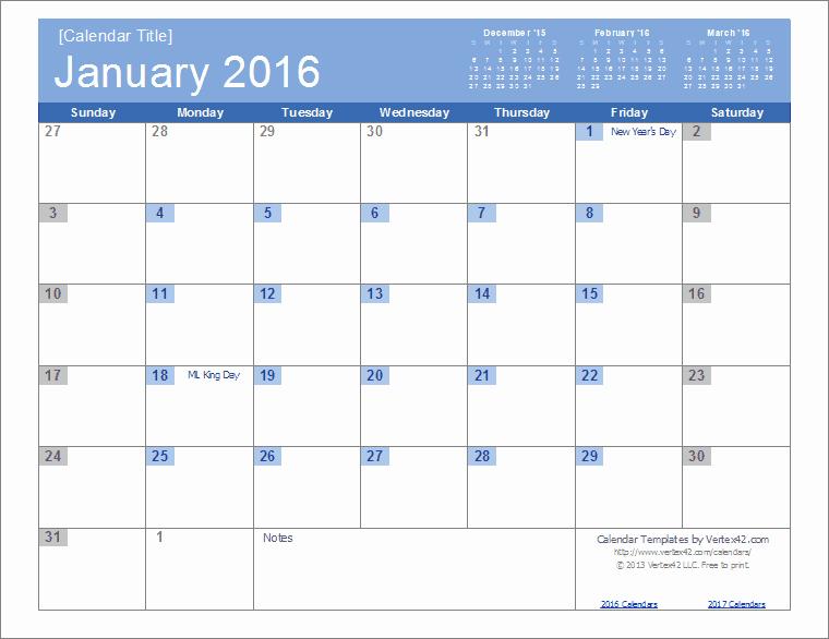 Show Me A Monthly Calendar Inspirational 2016 Calendar Templates and