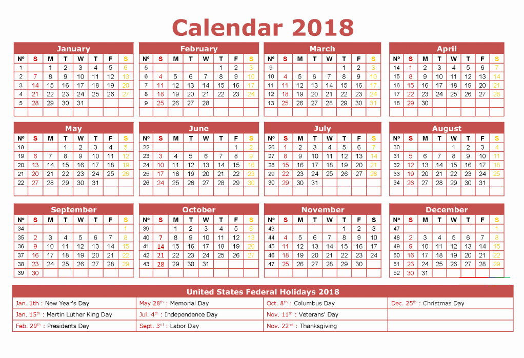 Show Me A Monthly Calendar Lovely 12 Month Calendar 2018 On E Page Twelve Month Printable